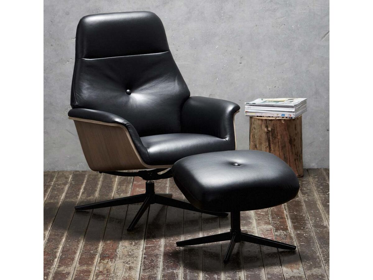 Fauteuil de relaxation + repose pieds